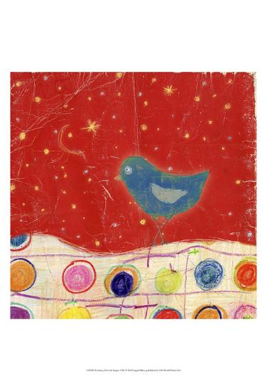 Feathers, Dots & Stripes VIII-Ingrid Blixt-Art Print