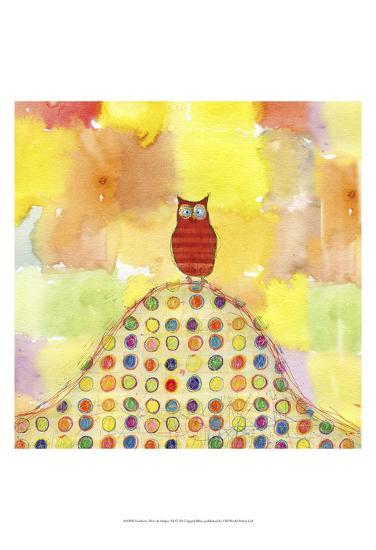 Feathers, Dots & Stripes XI-Ingrid Blixt-Art Print