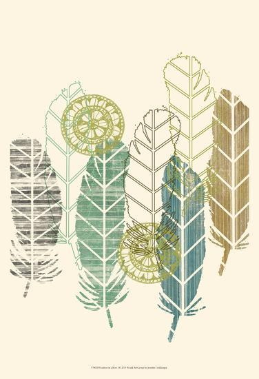Feathers in a Row I-Jennifer Goldberger-Art Print