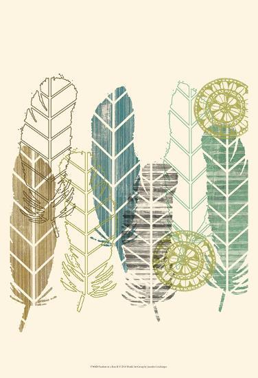 Feathers in a Row II-Jennifer Goldberger-Art Print