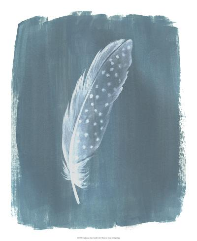 Feathers on Dusty Teal III-Grace Popp-Art Print