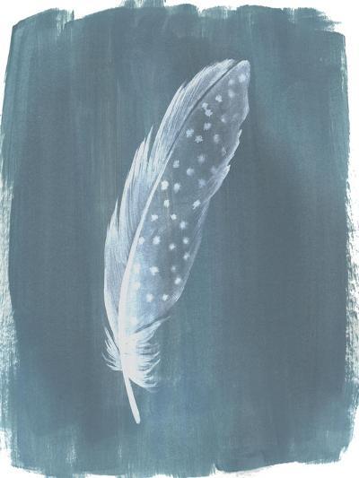 Feathers on Dusty Teal III-Grace Popp-Art Print