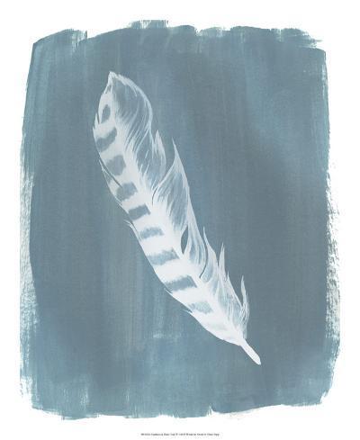 Feathers on Dusty Teal IV-Grace Popp-Art Print