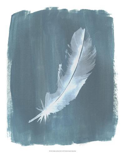Feathers on Dusty Teal V-Grace Popp-Art Print