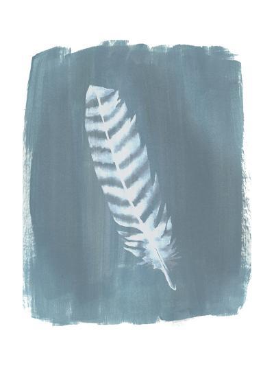 Feathers on Dusty Teal VIII-Grace Popp-Art Print