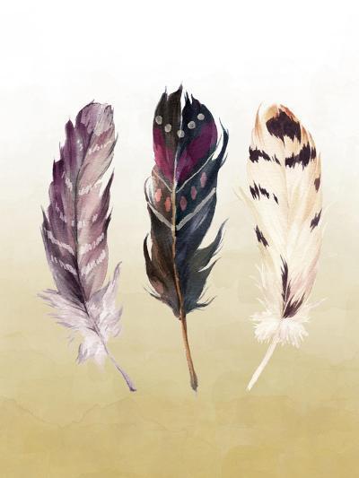 Feathers on Yellow-Tara Moss-Art Print