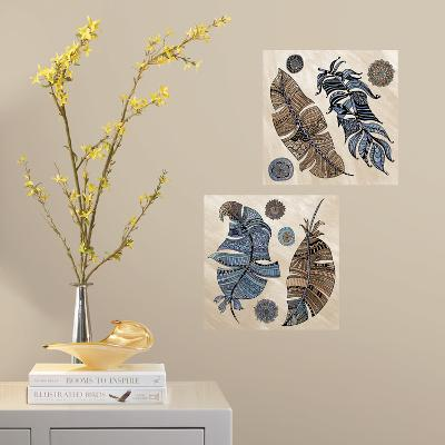 Feathers Peel and Stick Color Your Decal--Wall Decal