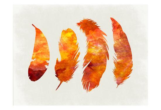 Feathery Abstract 2-Sheldon Lewis-Art Print