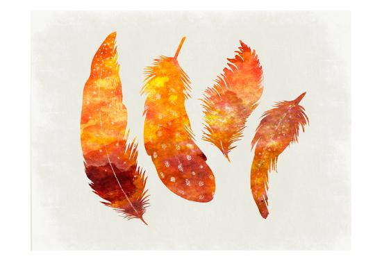 Feathery Abstract-Sheldon Lewis-Art Print