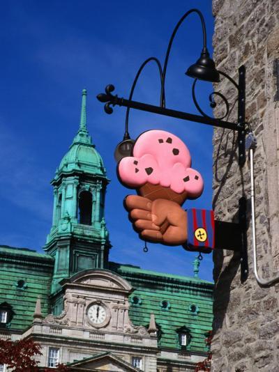 Feature of Building, Montreal, Canada-Wayne Walton-Photographic Print
