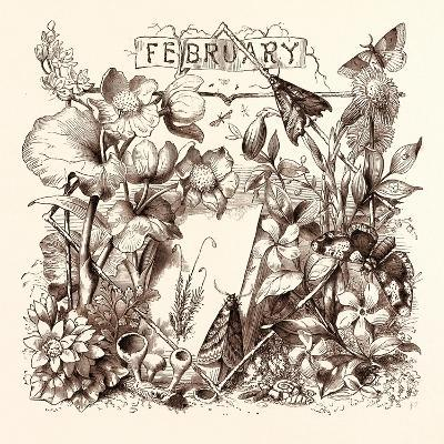 February, Calendar, Year, Month, Monthly--Giclee Print
