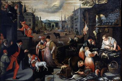 February (From the Series the Seasons), Late 16th or Early 17th Century-Leandro Bassano-Giclee Print