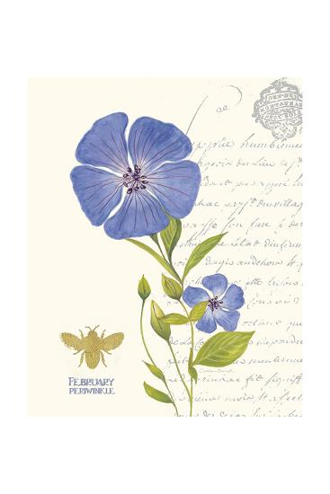 February Periwinkle-Ariane Sarah-Art Print