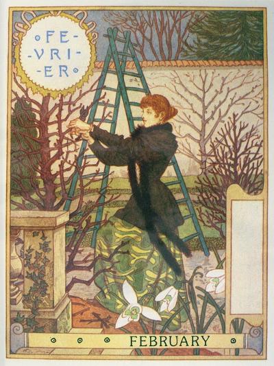 February-Eugene Grasset-Giclee Print
