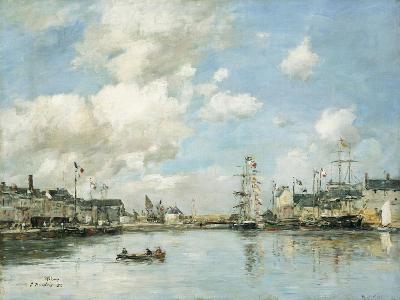 Fecamp, the Basin, 1892-Eug?ne Boudin-Giclee Print
