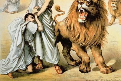 Fed to the Lions--Giclee Print