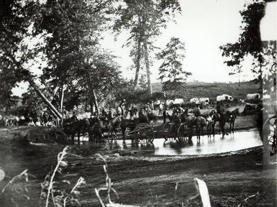 Federal Battery Fording a Tributary of Rappahannock, Battle Day, Cedar Mountain, Virginia, 1862--Photographic Print