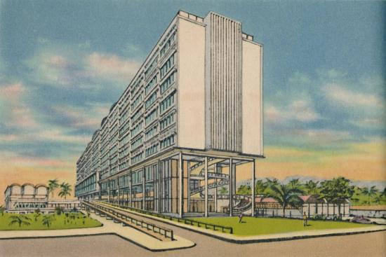 'Federal Building in the Civic Center, Barranquilla', c1940s-Unknown-Giclee Print