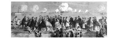 Federal Ironclads Attacking Charleston Harbour; American Civil War--Giclee Print