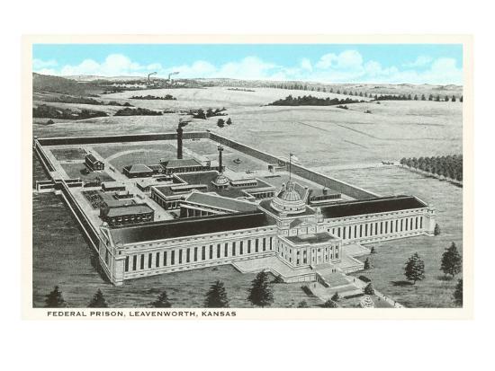 Federal Prison, Leavenworth, Kansas--Art Print