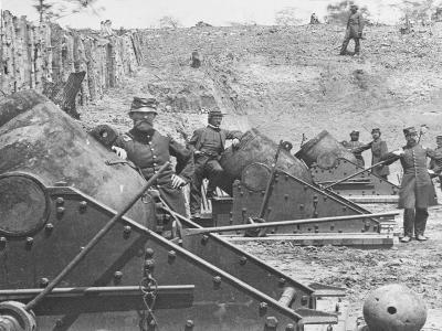 Federal Siege Guns, Yorktown, Virginia, During the American Civil War-Mathew Brady-Giclee Print
