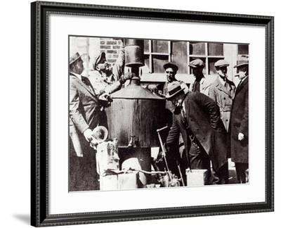 Federal US Agents Discover an Illegal Alcohol Still During the American Prohibition--Framed Giclee Print