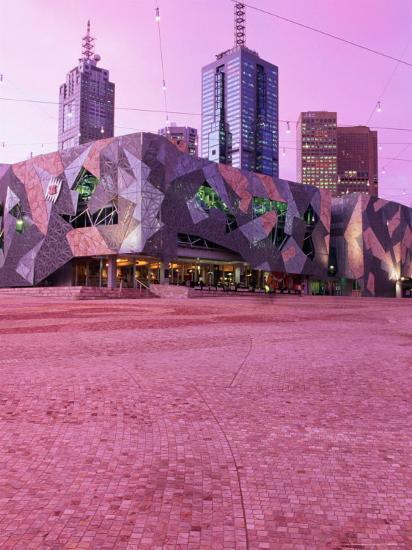 Federation Square at Dusk, Melbourne, Australia-John Banagan-Photographic Print