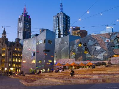 Federation Square at Dusk-Greg Elms-Photographic Print