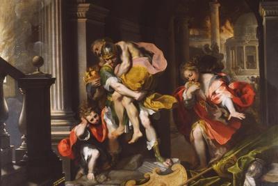 Aeneas' Flight from Troy, 1598