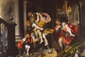 Aeneas' Flight from Troy, 1598 by Federico Barocci