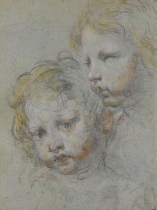 Deux têtes d'enfants by Federico Barocci