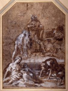 Religious Allegory, the Gathering of the Manna and the Institution of the Eucharist by Federico Barocci