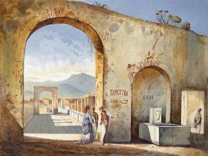 Street Next to Temple of Jupiter, from Pompei by Federico Barocci