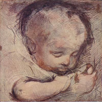 Study of a Sleeping Baby, c16th century, (1903)