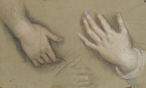 Trois études de mains by Federico Barocci