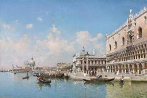 The Doge's Palace and Santa Maria Della Salute, 1896 by Federico del Campo