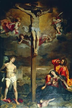 Crucifixion with Virgin and Saints, 1596