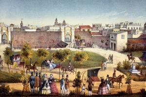 The Gates of Monseratte, Havana, Cuba, 1840 by Federico Mialhe