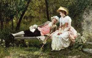Romantic Meeting by Federigo Andreotti