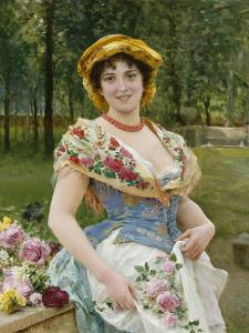 Rose Celebration, Tripudio Di Rose, 19th Century by Federigo Andreotti