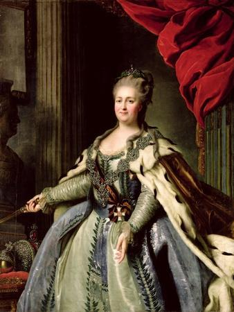 Portrait of Catherine II circa 1770