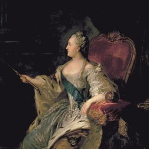 Portrait of Catherine The Great, 1763 by Fedor Stepanovich Rokotov