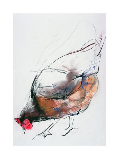 Feeding Hen, Trasierra, 1998-Mark Adlington-Giclee Print