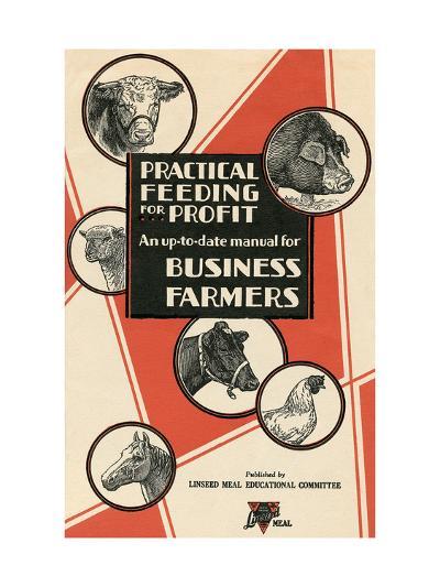 Feeding Manual for Farm Animals--Art Print