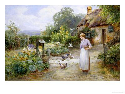 Feeding the Doves-Ernest Walbourn-Giclee Print