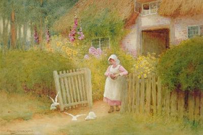 Feeding the Doves-Arthur Claude Strachan-Giclee Print