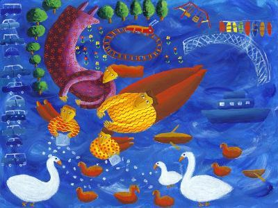 Feeding the Ducks, 2003-Julie Nicholls-Giclee Print