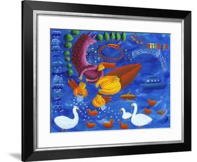 Feeding the Ducks, 2003-Julie Nicholls-Framed Giclee Print