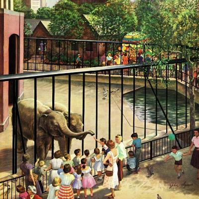 """Feeding the Elephants"", July 25, 1953-John Clymer-Giclee Print"