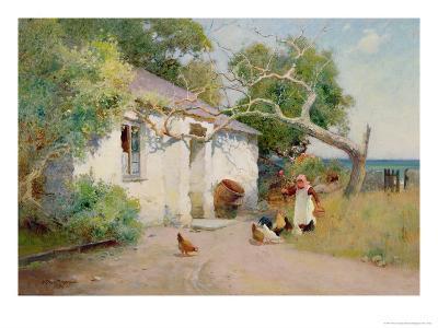 Feeding the Hens, 1894-Arthur Claude Strachan-Giclee Print